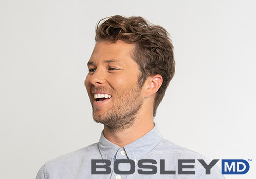 bosley model and logo