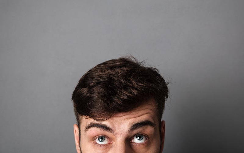 Man with textured crop hairstyle trend