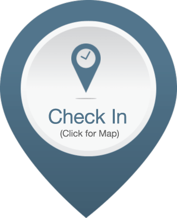Check In map pin